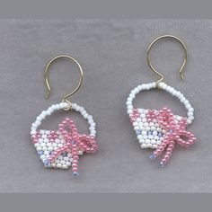 Illustrated Brick Stitch Pattern for Earrings | irregularly-shaped brick stitch and create some fun holiday earrings ...