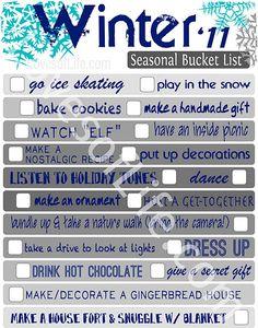 Winter bucket list :)