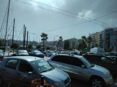 This is a cloudy summer day in Peiraias
