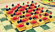 Checkerboard sandwiches
