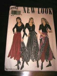 New Look Sewing Pattern  6132 - Swirl Skirt sized 8/18 - New