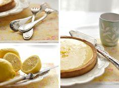 tarte au citron aux noix caramélisées