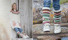 UKAS: Vimpelkjole med leggingser / Garland Dress with Leg Warmers - Pickles - Pickles Knit Mittens, Knitting Socks, Knitting For Kids, Baby Knitting, Knit Or Crochet, Crochet Hats, Dress Girl, Knitting Accessories, Triangles