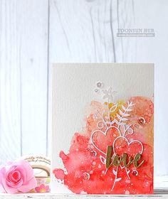 Hello crafty friends, I hope you had a fabulous Christmas!! Today I want to share with you a couple cards with SSS Valentine themed goodies. For my first card, I used Love Bouquet and I Love You Wo...