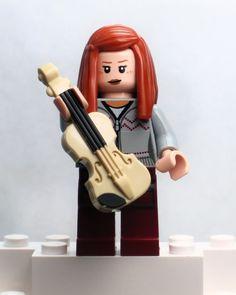 A19 New Lego Minifig Custom Tan Black Violin Musical Instrument Weapon Guitar | eBay