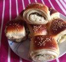 www.ozlemileyemekteyiz.com Bagel, Bread, Food, Meal, Essen, Hoods, Breads, Meals, Sandwich Loaf