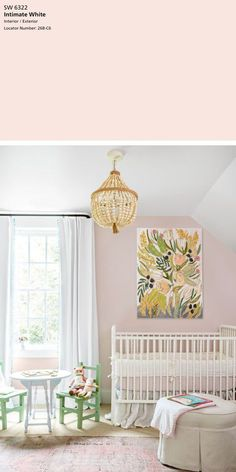 The Best 5 Pink Paint Colors — Tag & Tibby Design - Anne O. - The Best 5 Pink Paint Colors — Tag & Tibby Design The Best 5 Pink Paint Colors — Tag & Tibby Design SW Intimate white - playroom - Nursery Paint Colors, Pink Paint Colors, Light Pink Paint, Pink Wall Paints, Nursery Design, Light Pink Nursery Walls, Blush Pink Paint, Light Pink Walls, Room Wall Colors