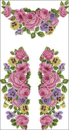 Róże i Bratki na Obrus