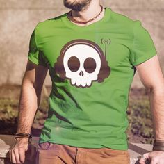 Skull Graphic on a comfortable T-shirt.