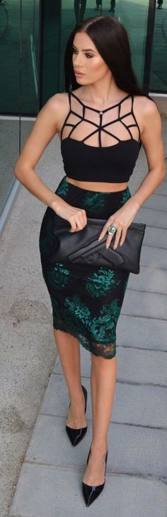Caged Crop Top Outfit Idea by Laura Badura Fashion