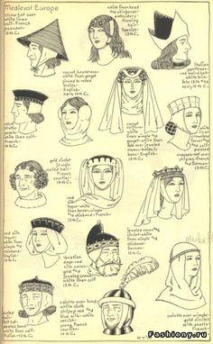 Головные уборы. Средневековье
