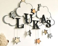 Items similar to Hanging Clouds: A Group of 5 on Etsy Baby Nursery Decor, Baby Decor, Nursery Room, Kids Decor, Bedroom, Baby Crafts, Diy And Crafts, Crafts For Kids, Hanging Clouds