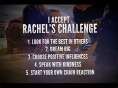 Rachel's Challenge....just had presentation today! I accept!