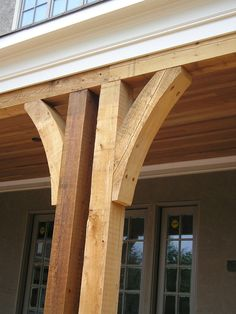 The pergola kits are the easiest and quickest way to build a garden pergola. There are lots of do it yourself pergola kits available to you so that anyone could easily put them together to construct a new structure at their backyard. Front Porch Columns, Screened In Porch, Front Porches, Front Porch Remodel, Porch Railings, House With Porch, House Front, Cedar Posts, Building A Porch