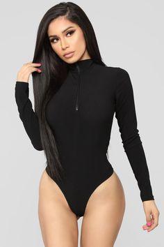 Stay Away Bodysuit – Black – fashion nova outfits Undercut Hairstyles Women, Fashion Nova Bodysuit, Black Leotard, Style Noir, Latex Dress, Fashion Nova Models, Black Bodysuit, Cut And Style, Leotards