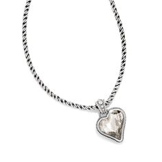 Brighton Bibi Heart Gem Reversible Necklace
