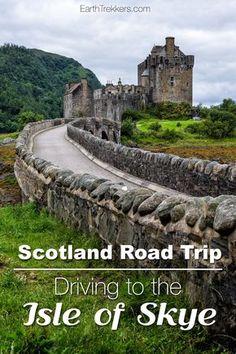 Scotland road trip: Driving to the Isle of Skye from Edinburgh or Glasgow.