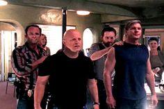 The Shield Strike Team. De izquierda a derecha, los detectives del Grupo de Asalto Anti-Bandas: Shane, Vic, Gardocki y Len.