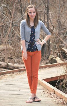I need to get some orange jeans.  I am loving these things.