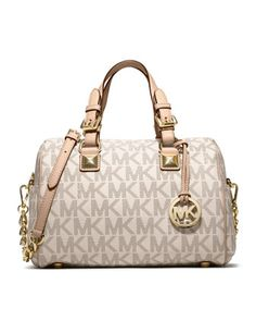 MICHAEL Michael Kors  Medium Grayson Logo Satchel.