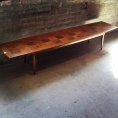 Tomlinson Coffee Table -  Mid Century Modern Coffee Table - Surfboard Table - Sophisticate Series  - Mid Century Patchwork Table by DareToBeVintage on Etsy
