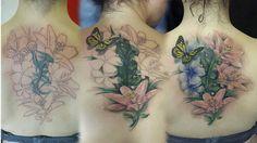 Rafa Emme from Élite Tattoo Studio (Valencia, Spain ) Valencia Spain, Tattoo Studio, Watercolor Tattoo, Tattoos, Flowers, Tatuajes, Tattoo, Royal Icing Flowers, Flower