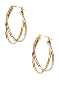 Candela Two-Tone 14K Gold Double Oval X Earrings  love these - wish i had them!