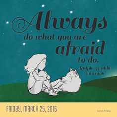 """Always do what you are afraid to do."" - Ralph Waldo Emerson Artwork by Sarah Lynn Baker #TodayIsGoingToBeAGreatDay #Inspiration #InspirationalQuote #Motivation #BestoftheDay #inspirations #myinspiration #inspirationquote #dailyinspiration #InspirationalQuotes #powerofpositivity #wordstoliveby #encouragement #positive #quotestoliveby #inspo #lifequotes #instadaily"