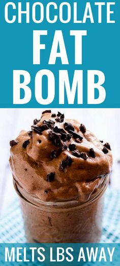 Dr Oz's Chocolate Fat Bomb Smoothie Recipe is so delicious! And it boosted my diet to help me lose an extra 5 lbs last week!
