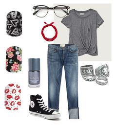"""Casual & fun"" by krystinsjam on Polyvore featuring Abercrombie & Fitch, Current/Elliott and Converse"