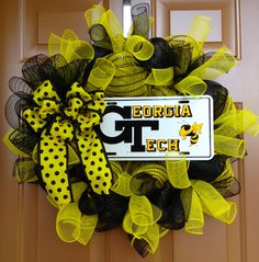 Hey, I found this really awesome Etsy listing at http://www.etsy.com/listing/161121748/georgia-tech-wreath