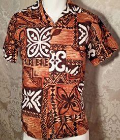 7e5375edd Vintage Hawaiian Aloha Shirt Barkcloth Tapa Tribal Print Tiki Small | eBay  Hawaiian Punch, Hawaiian