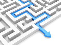 3D Maze With Blue Arrow Stock Photography - Image: 18829332
