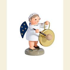 Angels Orchestra of Angels (KWO) Angel with Gong - 5cm / 2 inch