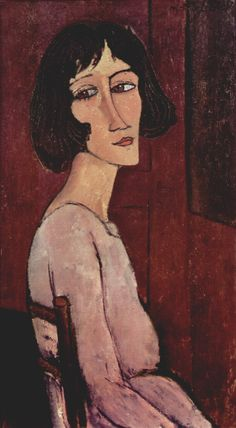 Portrait of Margarita - Amedeo Modigliani The first time I saw this painting, I was attracted very much. I felt as if I was this woman.