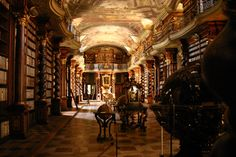the library in the Klementinum, Prague, Czech Republic