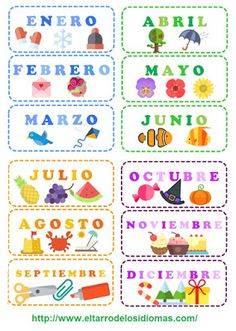 Spanish Lessons For Kids, Spanish Class, Teaching Spanish, 2nd Grade Classroom, Preschool Lessons, Sewing Accessories, Baby Play, Learning, Printables