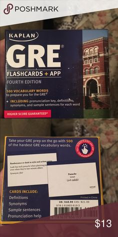 Brand new GRE flash cards Bought at Barnes and noble and decided not to go to grad school, only opened once! Kaplan Other