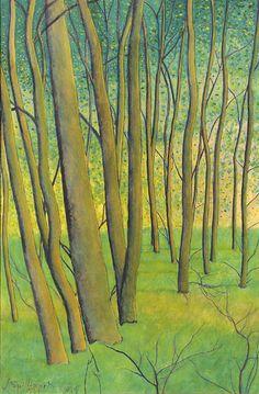 A forest, Leon Spilliaert. Belgian (1881 - 1946)
