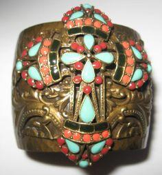MAYAN CROSS Cuff Bracelet SWEET ROMANCE Ollipop RETRO Vintage Maya TREE of LIFE #SweetRomance #Cuff