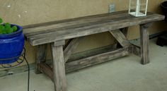 Rustic Wooden – Stone Garden Benches | http://www.finecraftguild.com/rustic-garden-bench-stone-wood/