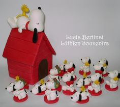 Snoopy. cake topper. souvenirs. candy bar. cold porcelain. porcelana fria. biscuit