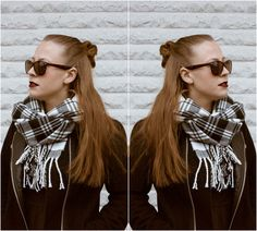 The hippie hair knot - hot or not? #beautyblog #fashionblog #fashion #beauty #hair #hairstyle #liplines #lipstick #sunglasses #streetstyle #hairknot #brunette #coat #black #blogging #emmyslife