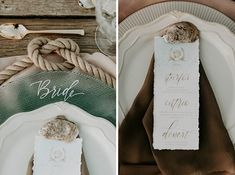 Lovely tabletop details from this earthy boho reception Boho Wedding Decorations, Wedding Centerpieces, Nathan Walker, Home Wedding Inspiration, Wedding Place Settings, Nontraditional Wedding, Seating Chart Wedding, Wedding Signage, A Boutique