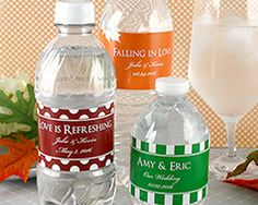 """""""Our Wedding Water"""" Personalized Water Bottle (Case of 12)"""