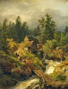 Andreas Achenbach ~ The Dusseldorf School of painting