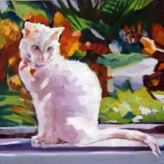 WallyI, the Cats Meow!, painting by artist Nancy Spielman