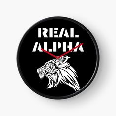 'Real Alpha - pack leader' Clock by RIVEofficial Alpha Pack, Pin Pin, Quartz Clock Mechanism, My Portfolio, Profile Photo, Modern Prints, Hand Coloring, Murals, Cool T Shirts