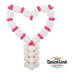 This Alluring Heart design will make a great impression at a wedding or for Valentine's Day! #qualatex #balloon #valentines #heart