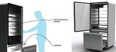 futuristic refrigerator design